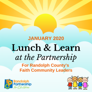 Lunch & Learn for Faith Community Leaders @ Randolph Partnership for Children