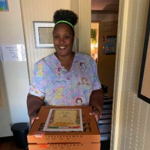 First Steps Early Learning Center receives pizza