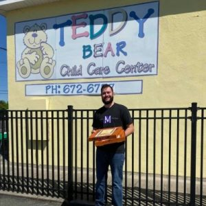 Teddy Bear Child Care Center receives pizza