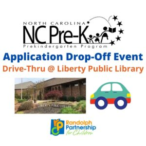 NC Pre-K Application Drive Through @ Liberty Public Library