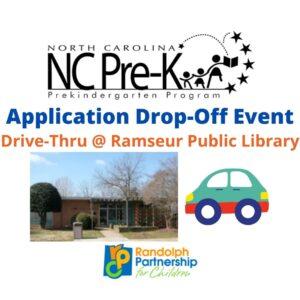 NC Pre-K Application Drive Through @ Ramseur Public Library